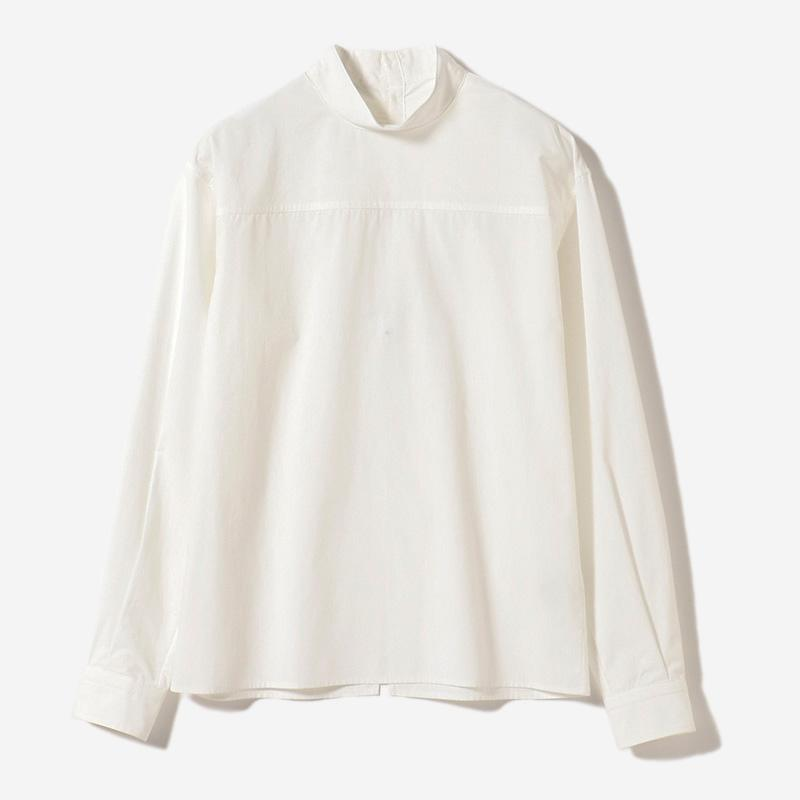 BACK PLACKET SHIRT HAKU/womens