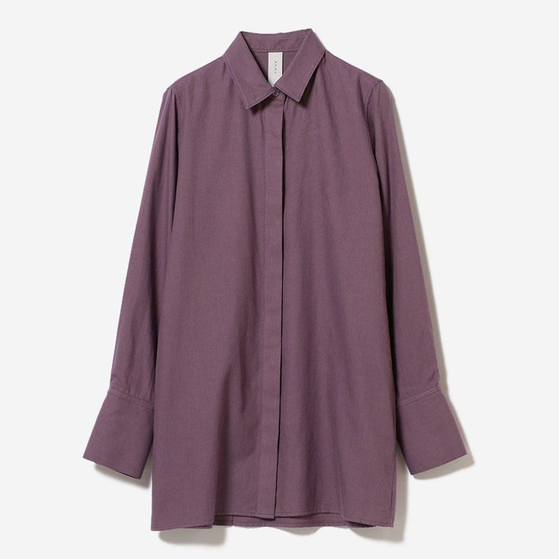 BACK TUCK SHIRT BK PLUM/womens