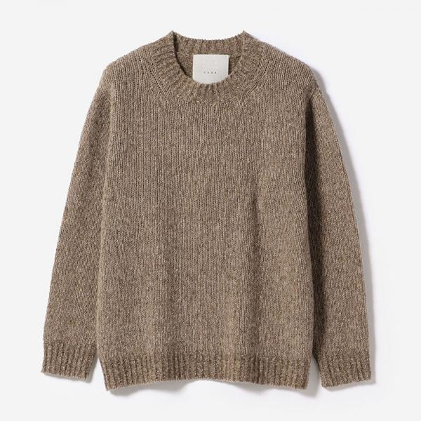 eauk NEP YARN SIMPLE SWEATER GREIGE/unisex