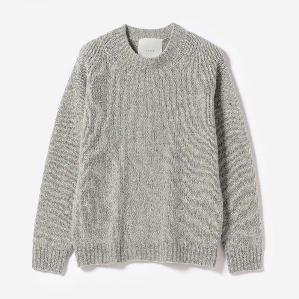 eauk NEP YARN SIMPLE SWEATER LGY/unisex