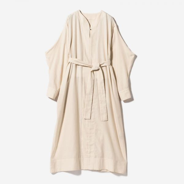 BELTED SHIRT DRESS ECRU/womens
