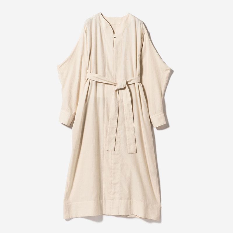 eauk BELTED SHIRT DRESS ECRU/womens