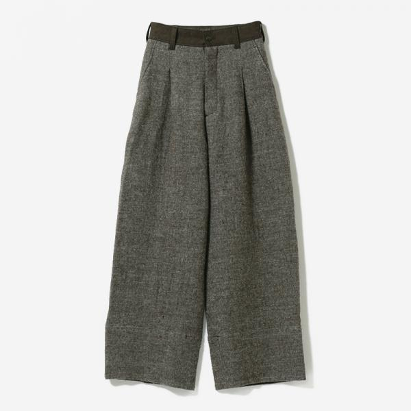 eauk PATCHWORK WOOL PANTS BR/womens