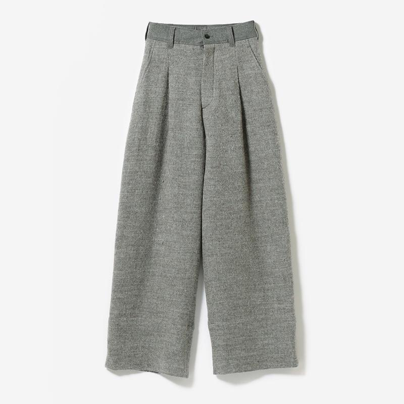 eauk PATCHWORK WOOL PANTS GY/womens