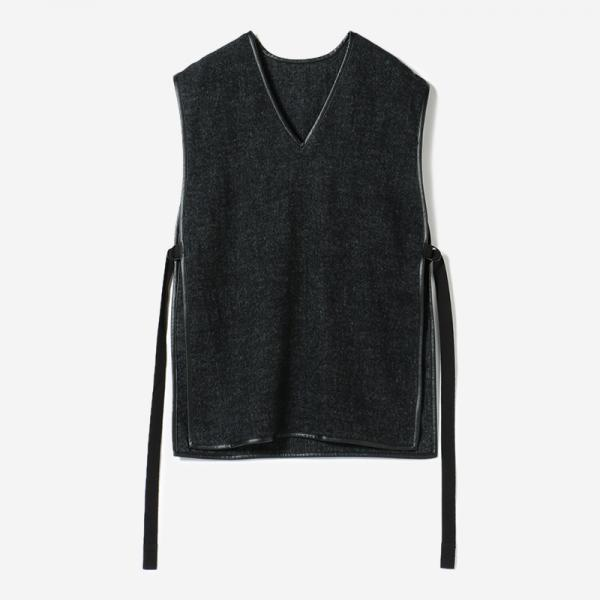 eauk PATCHWORK WOOL VEST GEN/womens