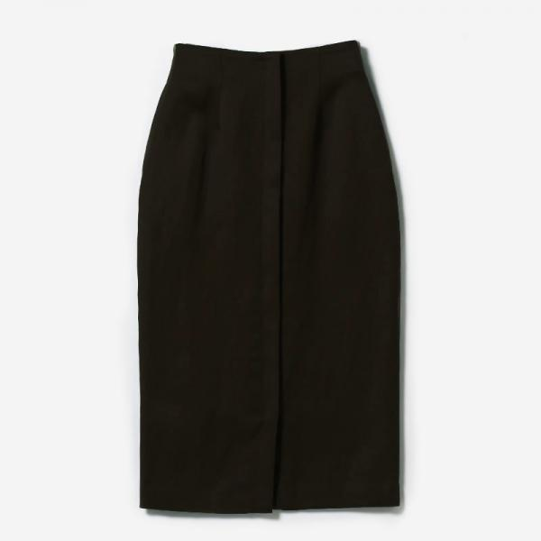 eauk WO/LI PENCIL SKIRT BR/womens