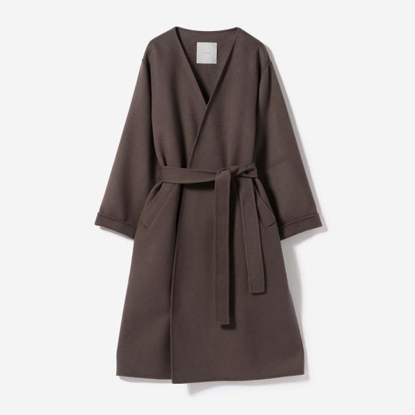 eauk COLLARLESS LIGHT COAT KURUMI/womens