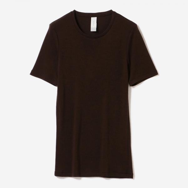 WASHABLE WOOL T-SHIRT BR/womens