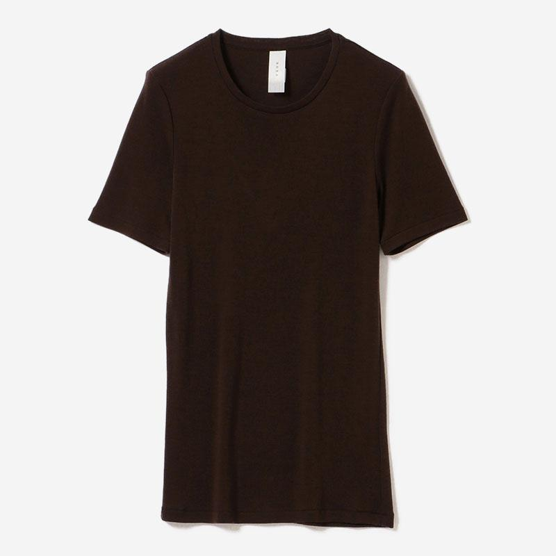 eauk WASHABLE WOOL T-SHIRT BR/womens