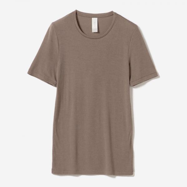 WASHABLE WOOL T-SHIRT GREIGE/womens