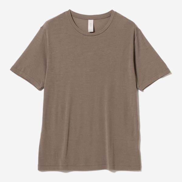 WASHABLE WOOL T-SHIRT GREIGE/mens
