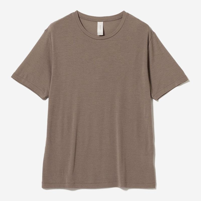 eauk WASHABLE WOOL T-SHIRT GREIGE/mens