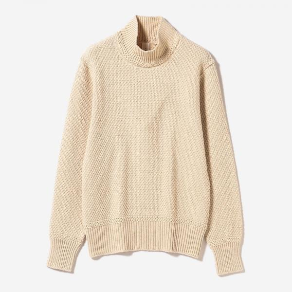 MOSS STITCH SWEATER ECRU/womens