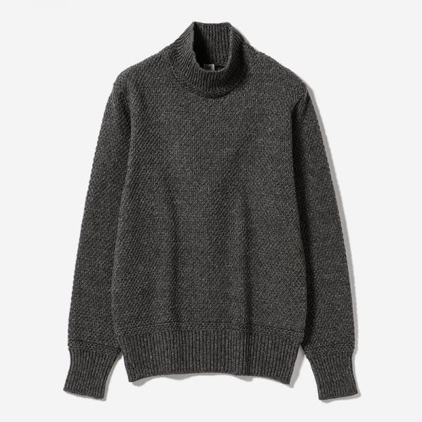 MOSS STITCH SWEATER GY/womens