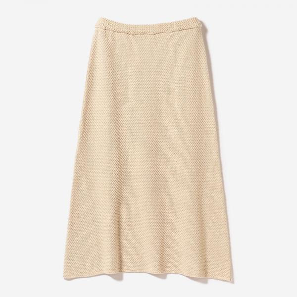 MOSS MIDI SKIRT ECRU/womens