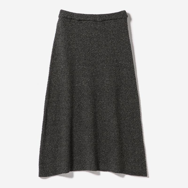 MOSS MIDI SKIRT GY/womens
