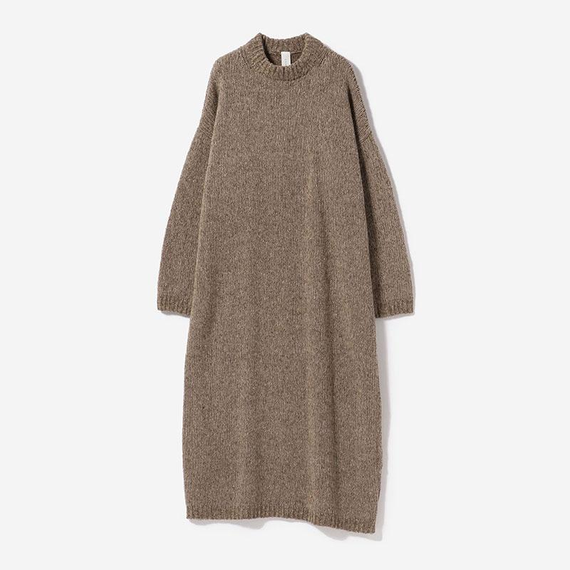 eauk NEP YARN KNIT DRESS GREIGE/womens