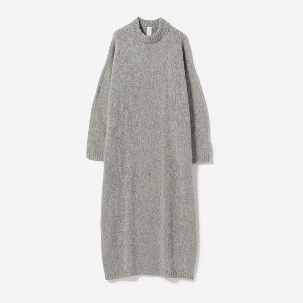 eauk NEP YARN KNIT DRESS LGY/womens