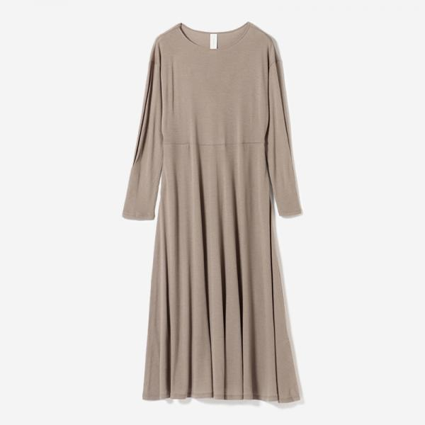 eauk WASHABLE WOOL DRESS GREIGE/womens