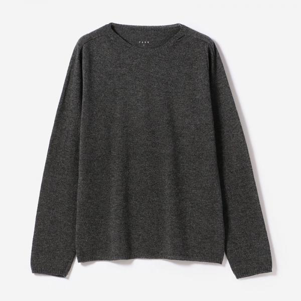 eauk CASHMERE SILK LONG SLEEVE T-SHIRT CGY/mens