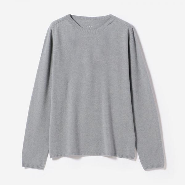 eauk CASHMERE SILK LONG SLEEVE T-SHIRT SUI/mens