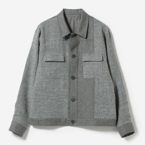 eauk PATCHWORK WOOL JACKET GY/mens