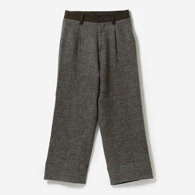eauk PATCHWORK WOOL PANTS BR/mens