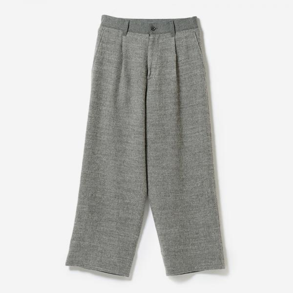 eauk PATCHWORK WOOL PANTS GY/mens