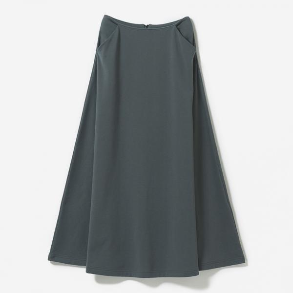 eauk BACKZIP A-LINE SKIRT FOG/womens