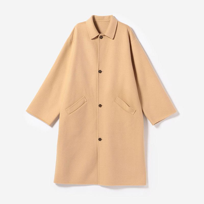 eauk LIGHT BALMACAAN COAT CAMEL/mens