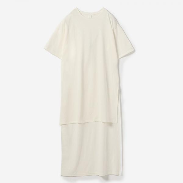 eauk IRREGULAR LENGTH T-SHIRT HAKU/womens
