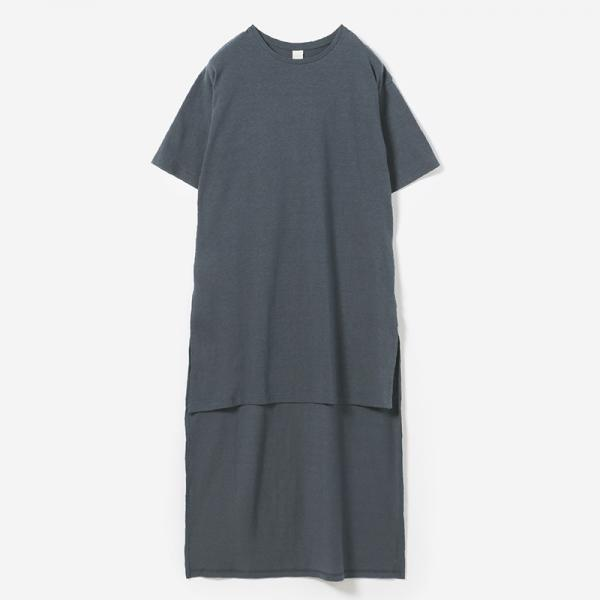 eauk IRREGULAR LENGTH T-SHIRT NIBI/womens