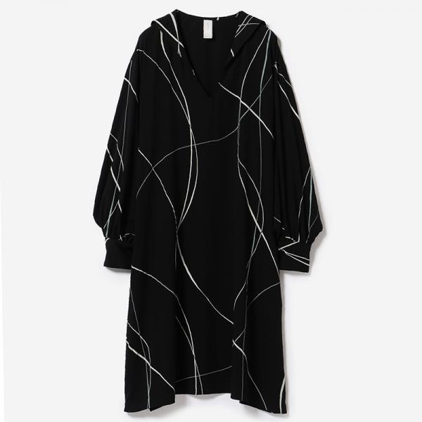 eauk LINE PRINT DRESS GEN / woman