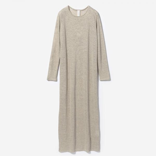 eauk LINEN LONG T-DRESS HEMP/womens