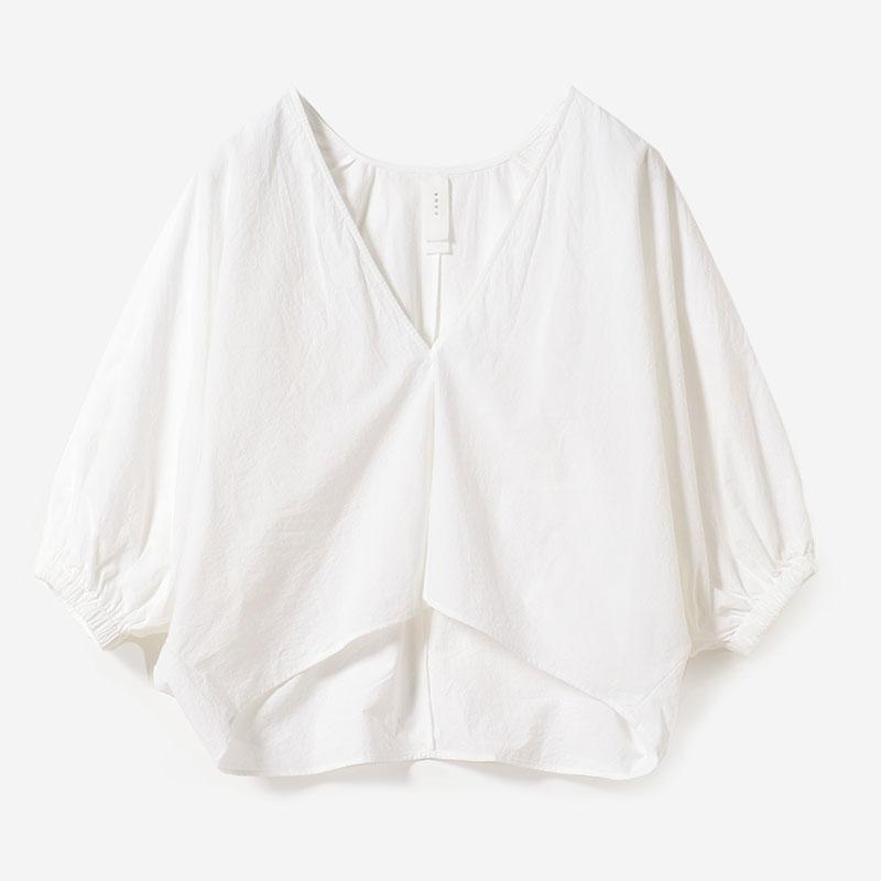 eauk VOLUME SLEEVE BLOUSE HAKU/womens