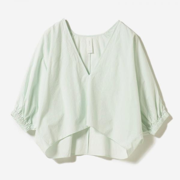 VOLUME SLEEVE BLOUSE MINT/womens