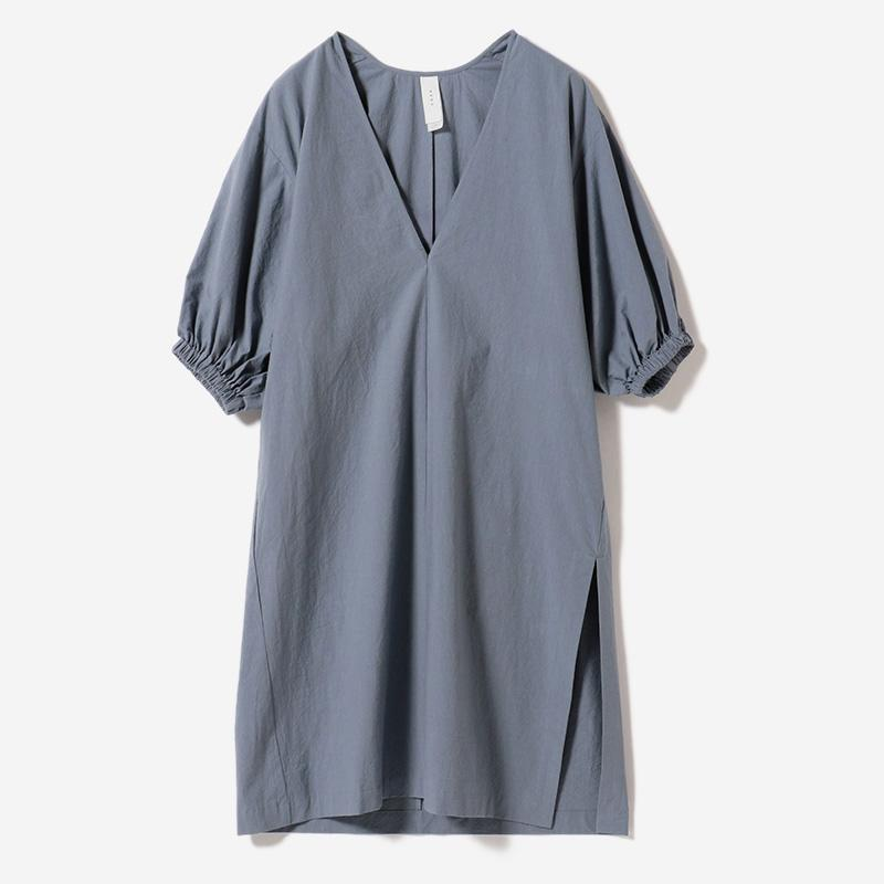eauk VOLUME SLEEVE DRESS FUJI/womens