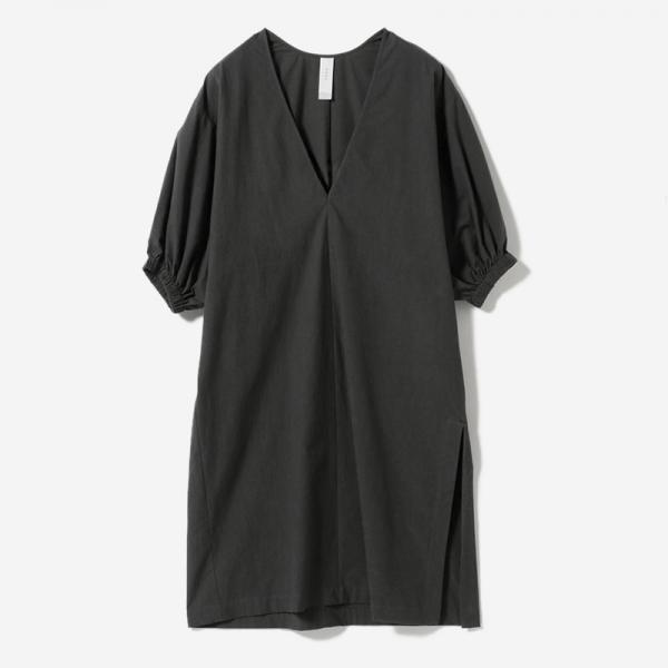 VOLUME SLEEVE DRESS INKBK/womens