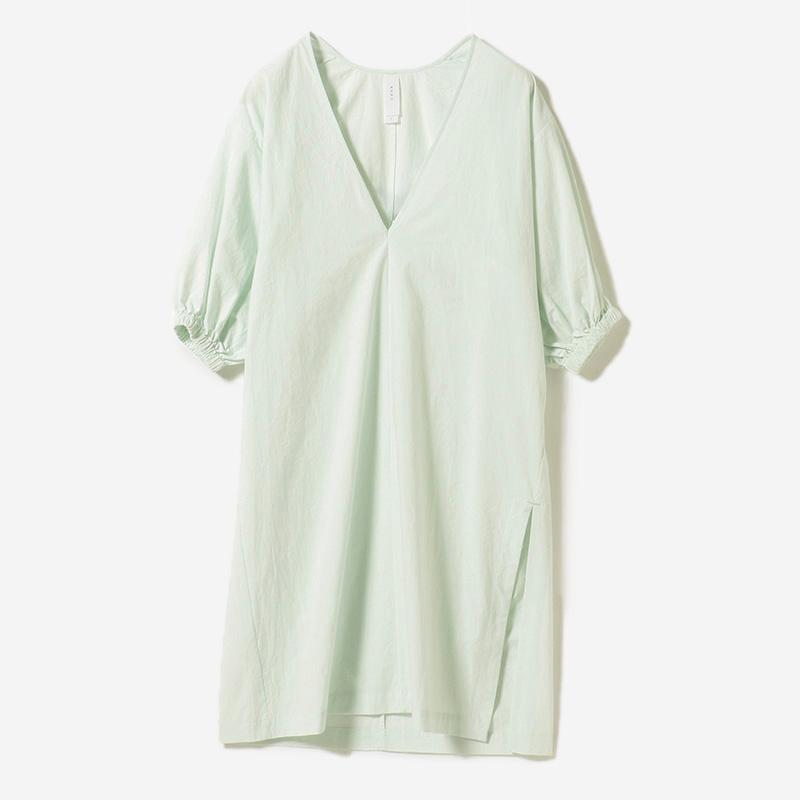 eauk VOLUME SLEEVE DRESS MINT/womens