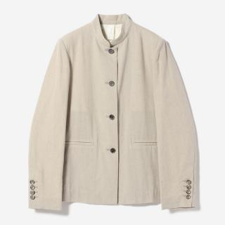 eauk STAND COLLAR JACKET GREIGE/womens