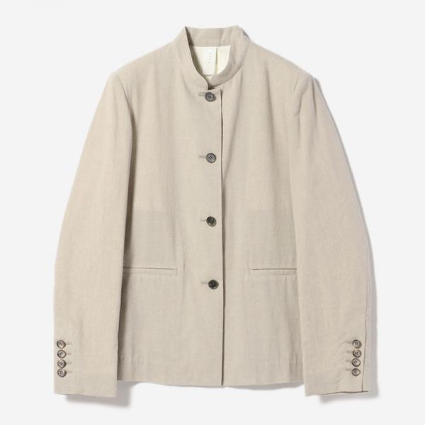 STAND COLLAR JACKET GREIGE/womens