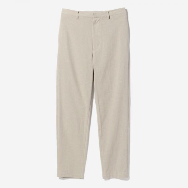 FLAT TAPERED PANTS GREIGE/womens