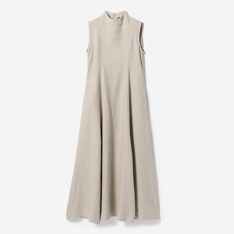 eauk CLOGGED NECK DRESS GREIGE/womens