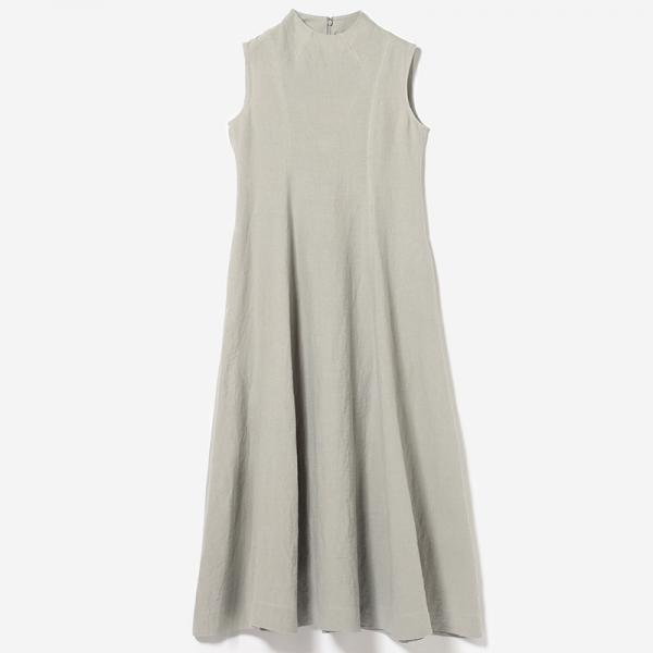 eauk CLOGGED NECK DRESS LGY /womens