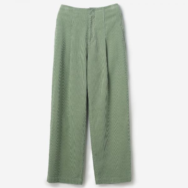 eauk CORDUROY PANTS GREEN BAY / womens