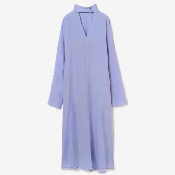 eauk V-NECK SHIRT DRESS FUJI/women