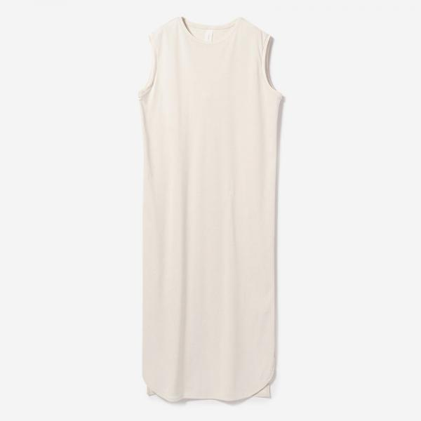 ROUND HEM DRESS ECRU/womens