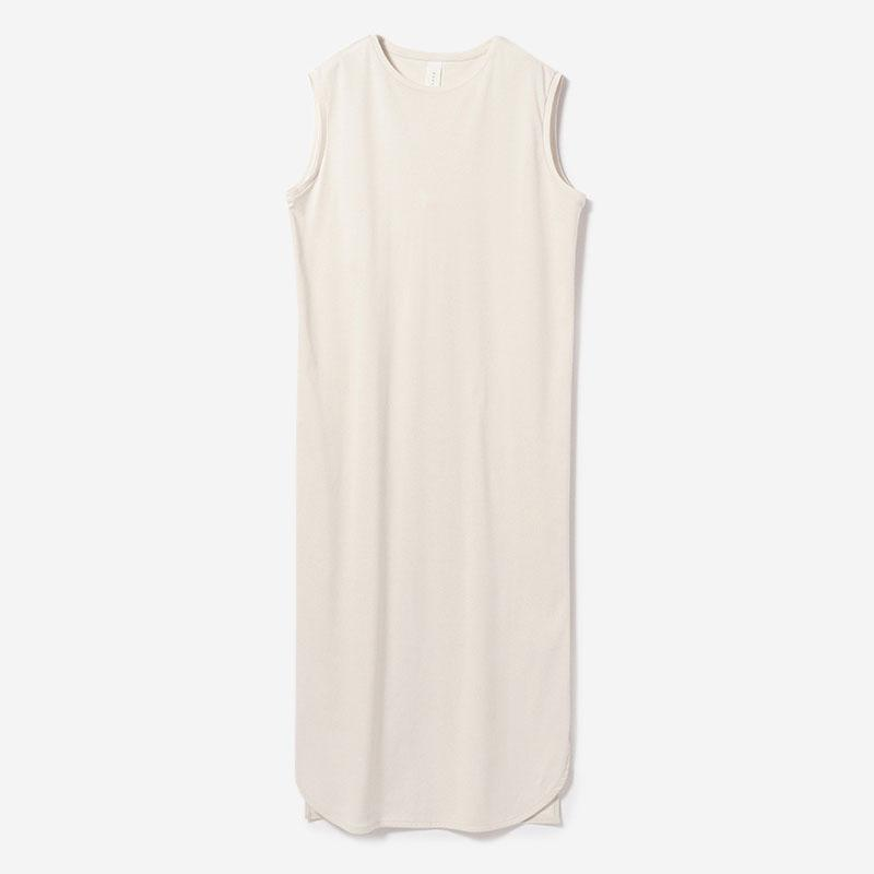 eauk ROUND HEM DRESS ECRU/womens