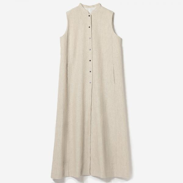 eauk LINEN LONG GILET NL/womens