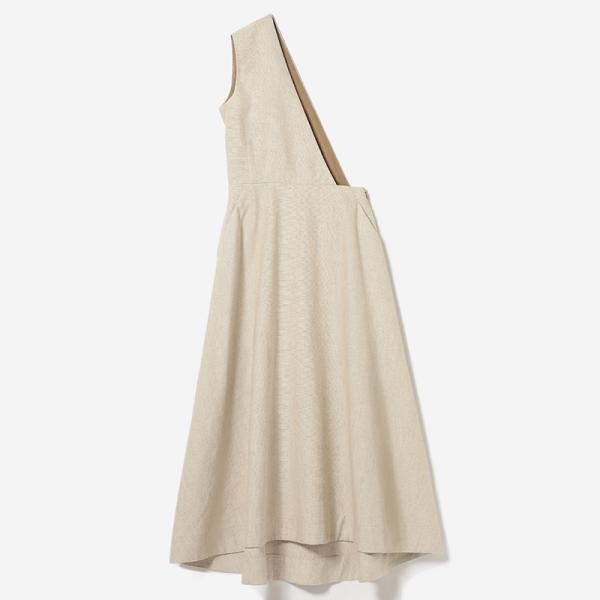 eauk LINEN ASYMMETRY DRESS NL/womens